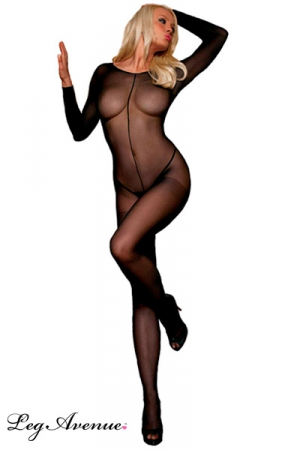 Combinaison voile Couture : Combinaison int�grale en voile, travers�e par une couture du cou jusqu'� l'entre-jambes.