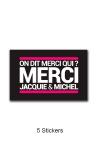Pack 5 stickers J&M n°4